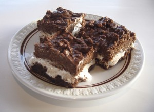 Chocolate Marshmallow Crunch Brownies