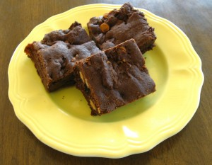 Chocolate Peanut Butter Sheet Cake Brownies