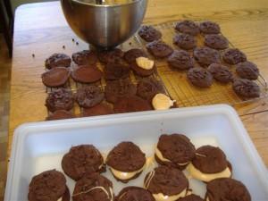 chocolate peanut putter whoopie pies