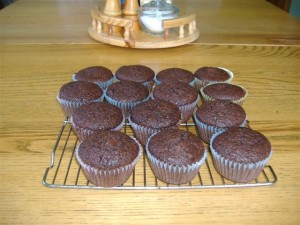 Chocolate Patti Pan Squash Muffins